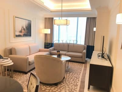 1 Bedroom Hotel Apartment for Rent in Downtown Dubai, Dubai - All Inclusive | Higher Floor | Facing The Burj |