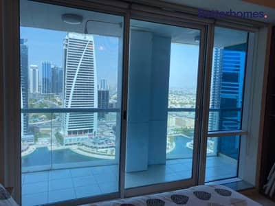 Studio for Rent in Jumeirah Lake Towers (JLT), Dubai - Lake View | Close to Metro | Balcony