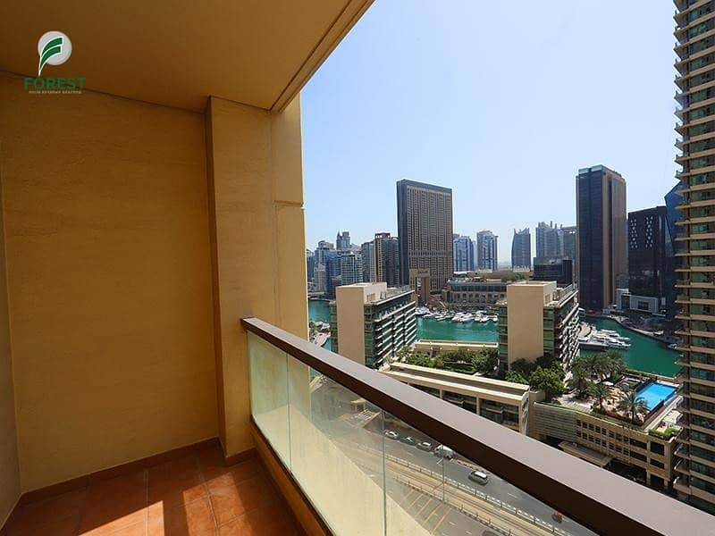 2 Well Maintained | 1BR with Marina View | Mid Floor