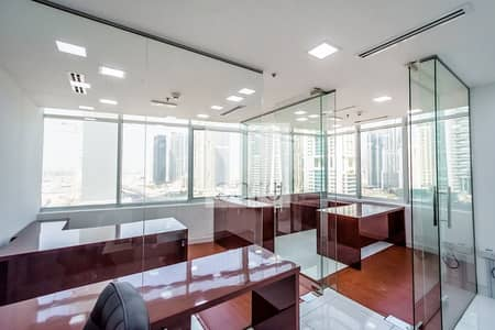 Office for Rent in Jumeirah Lake Towers (JLT), Dubai - Furnished Office | Glass Partitions | DMCC