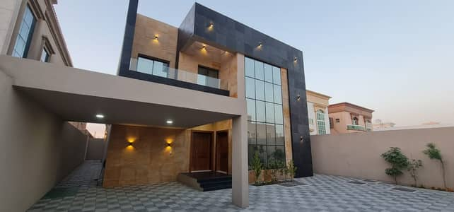 5 Bedroom Villa for Sale in Al Rawda, Ajman - Villa for sale Modern design villa with super deluxe finishing on main road of Shaikh Mohammad bin Zayed in al Rawda Ajman .