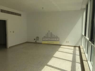Very Big, Bright 3br with Maid rm apartment is now available for rent only at AED 95K in Khalidiyah