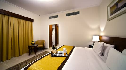 2 Bedroom Hotel Apartment for Rent in Bur Dubai, Dubai - Master Bedroom