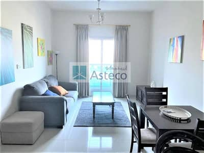 شقة 1 غرفة نوم للايجار في مدينة دبي الرياضية، دبي - Fully Furnished | Golf Course View | High Floor