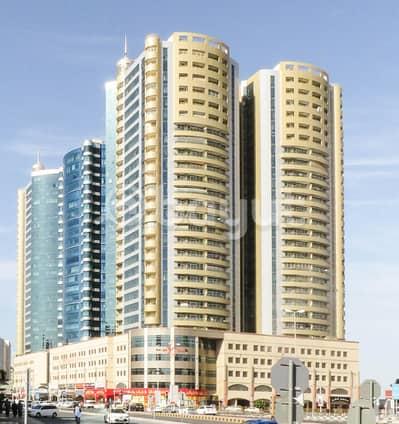 Studio for Rent in Ajman Downtown, Ajman - balcony studio for rent in Horizon tower