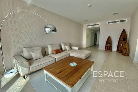 فلیٹ 2 غرفة نوم للايجار في دبي مارينا، دبي - Fully Furnished | High Floor Apartment | Sea Views