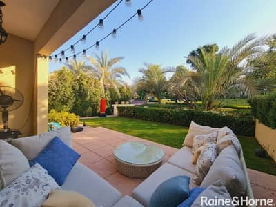 4 Bedroom Townhouse for Sale in Motor City, Dubai - Breathtaking Garden & Pool View I Beautiful Vastu