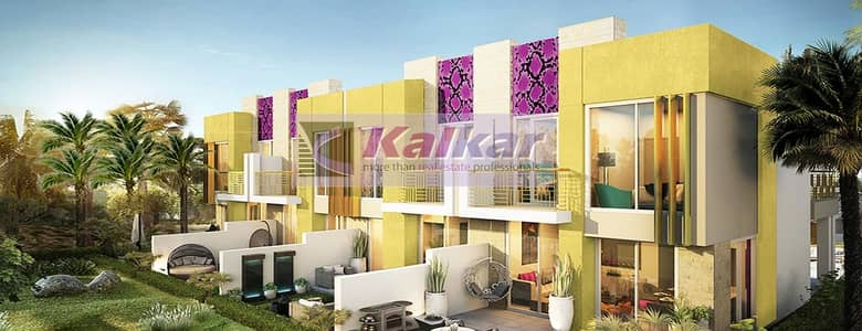 3 Bedroom Townhouse for Sale in Akoya Oxygen, Dubai - No Commission !!!Three Bedroom @ Just Cavalli villas with 5 Years payment plan starting from  AED. 1.3 M