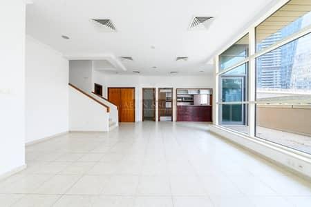 3 Bedroom Villa for Rent in Dubai Marina, Dubai - Rare Duplex with Huge Terrace | Full Marina view