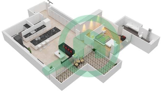 Seventh Heaven - 1 Bedroom Apartment Type 3 Floor plan