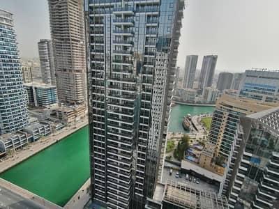 3 Bedroom Flat for Rent in Dubai Marina, Dubai - Dubai marina , 3 b/r with 4 cheques , chiller free , partial marina view , high floor