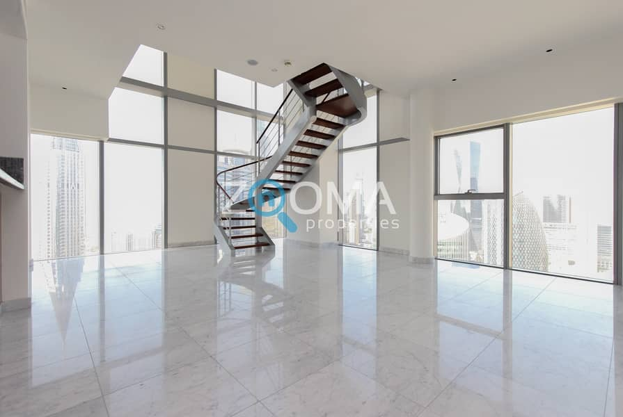 Corner Duplex| High Floor| DIFC&Zabeel Views