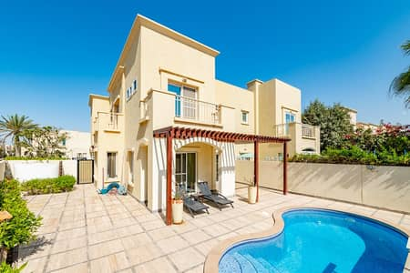 3 Bedroom Villa for Rent in The Lakes, Dubai - Fully Upgraded   Single Row   Marble flooring