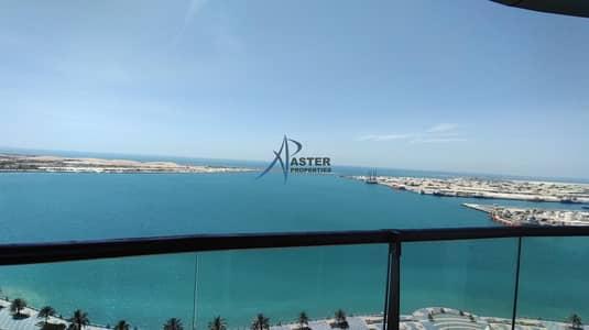 شقة 3 غرف نوم للايجار في منطقة الكورنيش، أبوظبي - 3BHK+  Maid RoomFully Sea view  magnificent. Balcony   Ideal for family