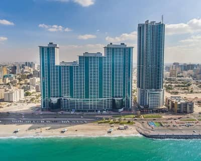 1 Bedroom Flat for Sale in Corniche Ajman, Ajman - One bedroom in Ajman Corishe Tower for sale with facilities on the payment ( only 5% and receive direct your flat )