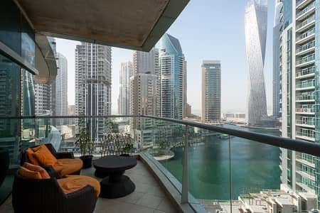 3 Bedroom Apartment for Rent in Dubai Marina, Dubai - Stunning Marina Views | 3 Bedroom plus laundry