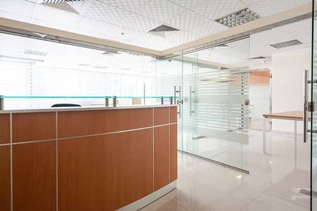 Office for Rent in Jumeirah Lake Towers (JLT), Dubai - Fully Furnished and Fitted Office with Marble flooring