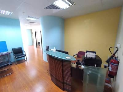 Office for Rent in Business Bay, Dubai - Fully Furnished | 4 Car Parking | Near Metro | SZR View
