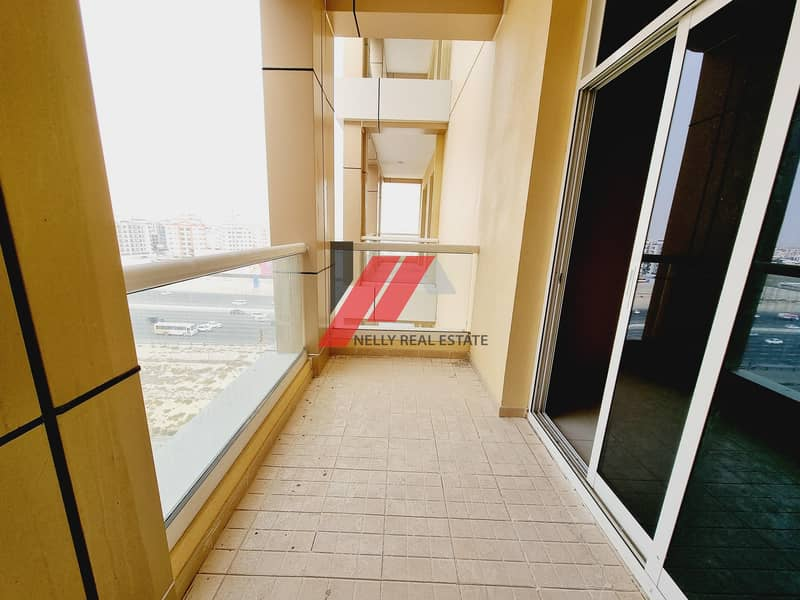 New Studio With 1 Month Free Huge In Size With Balcony Open View  Free Gym Pool Parking Only For 25k in 6 Chqs