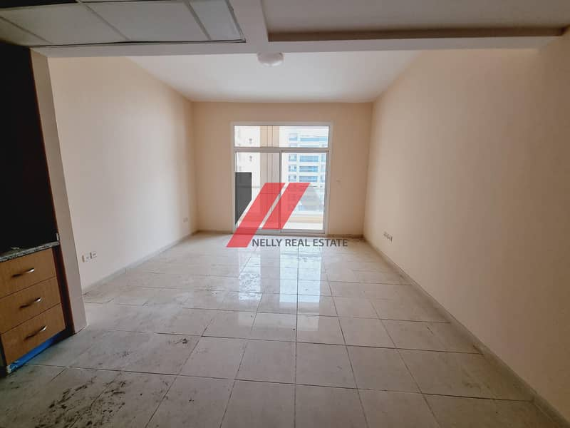 2 New Studio With 1 Month Free Huge In Size With Balcony Open View  Free Gym Pool Parking Only For 25k in 6 Chqs