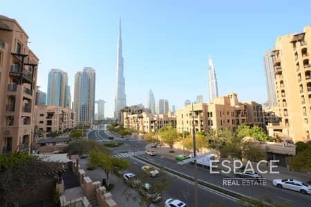 فلیٹ 2 غرفة نوم للبيع في المدينة القديمة، دبي - Full Burj Khalifa View | Study Room