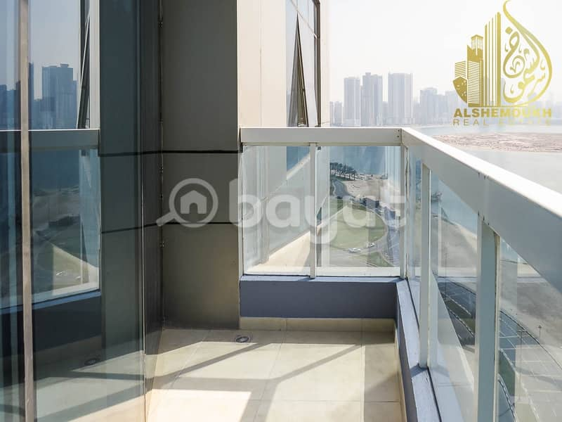 2 Sharjah Khan Beach Tower 1 clean and wonderful tower barking for free. there is balcony