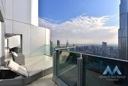 3 Bedroom Penthouse for Rent in Downtown Dubai, Dubai - STUNNING DUPLEX  PENTHOUSE | FULLY FURNISHED | MAID + STUDY