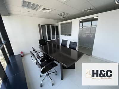 Office for Rent in Jumeirah Lake Towers (JLT), Dubai - High floor | Partitioned | Partly furnished