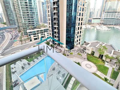 1 Bedroom Flat for Rent in Dubai Marina, Dubai - 1BR | Attessa Tower | Marina Views | 1030 Sqft
