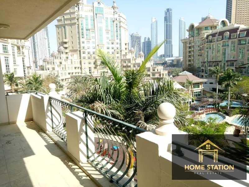 3+ Maids, Burj Khalifa, Garden and Pool View Balcony