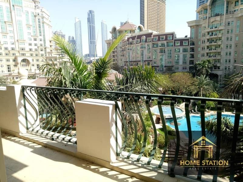52 3+ Maids, Burj Khalifa, Garden and Pool View Balcony
