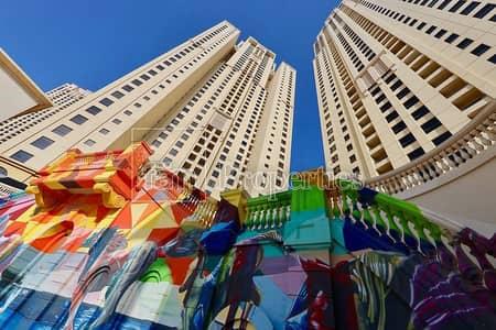 1 Bedroom Flat for Rent in Jumeirah Beach Residence (JBR), Dubai - Dubai Eye|Partial Sea View-High Floor-JBR Walk