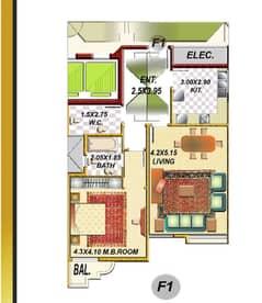شقة في أبراج الراشدية الراشدية 1 غرف 220000 درهم - 5114234