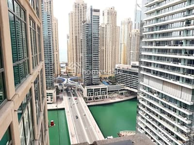 2 Bedroom Apartment for Rent in Dubai Marina, Dubai - 2 BED + STUDY   MARINA VIEW   CHILLER FREE