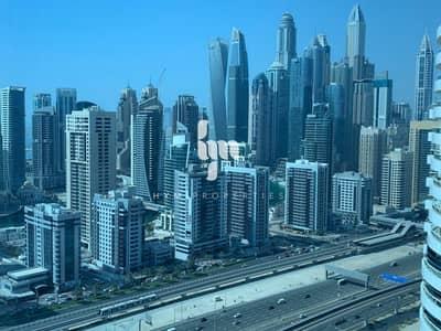 فلیٹ 2 غرفة نوم للايجار في أبراج بحيرات الجميرا، دبي - Fully Furnished | 2 BR | Unobstructed view of Emirates Living | Marina View