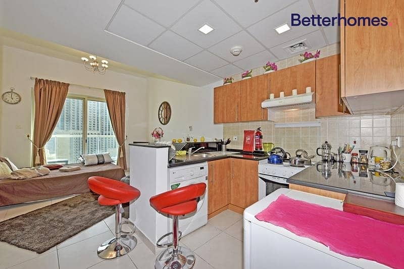 2 Furnished studio with balcony in Marina View Tower