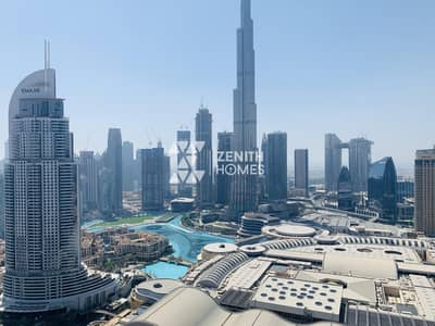 2 Bedroom Flat for Rent in Downtown Dubai, Dubai - High Floor | Full Burj View | Available Now