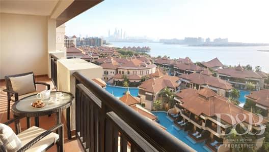 شقة فندقية 1 غرفة نوم للايجار في نخلة جميرا، دبي - Hotel Apartment | All Bills Included | Sea View