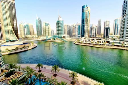 1 Bedroom Flat for Rent in Dubai Marina, Dubai - Full marina view | Vacant | High floor