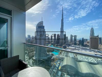 2 Bedroom Hotel Apartment for Rent in Downtown Dubai, Dubai - PREFERED LAYOUT | FULL BURJ VIEW | 02 SERIES