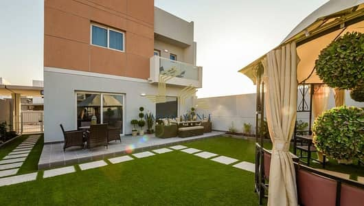 3 Bedroom Villa for Rent in Al Samha, Abu Dhabi - HOT DEAL !!! Corner Unit | Extended Garden