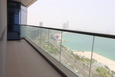 4 Bedroom Flat for Rent in Corniche Area, Abu Dhabi - Sea View 4Br Hall Flat 2 parking balcony gym pool