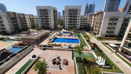 2 Bedroom Apartment for Rent in The Greens, Dubai - 2BR + Study | Park and Pool View | Chiller Free
