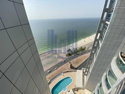 فلیٹ 2 غرفة نوم للايجار في كورنيش عجمان، عجمان - 2 Master bedroom Full Sea View   AC FREE
