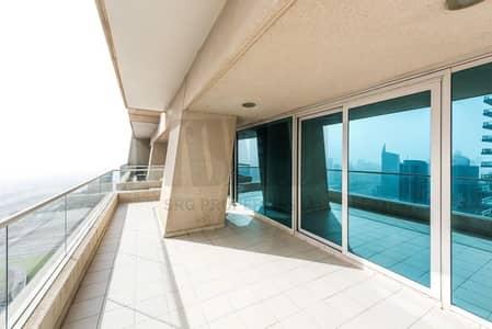 شقة 3 غرف نوم للايجار في دبي مارينا، دبي - Media City and Sea View | Chiller Included