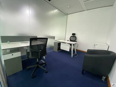Office for Rent in Bur Dubai, Dubai - Fully Furnished office |Dewa | Internet | Conference room Including | linked with Burjuman mall and Metro