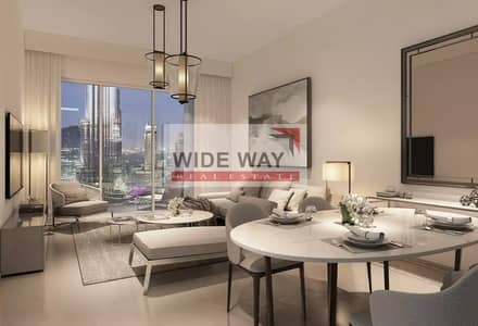 1 Bedroom Apartment for Sale in Downtown Dubai, Dubai - +Burj Khalifa/ Fountain View 1BR in ACT 1 2_ No Commission