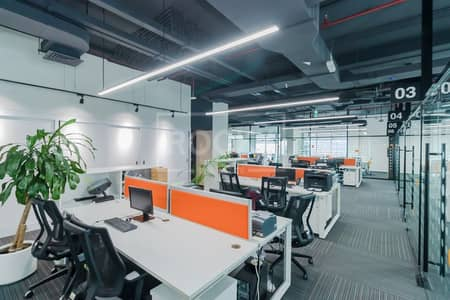 Office for Rent in Barsha Heights (Tecom), Dubai - Nicely Fitted-Furnished | Top Floor | 5 Parking | Chiller Free