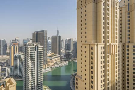 1 Bedroom Flat for Rent in Jumeirah Beach Residence (JBR), Dubai - Full Marina View | Furnished | Spacious