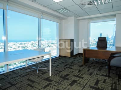 Office for Rent in Sheikh Zayed Road, Dubai - Serviced Office  I Fully Furnished I Metro Access